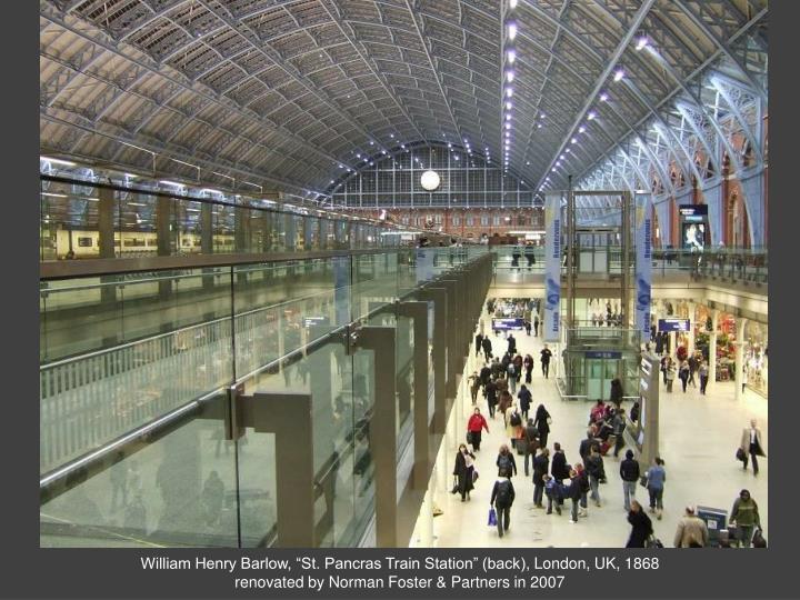 "William Henry Barlow, ""St. Pancras Train Station"" (back)"