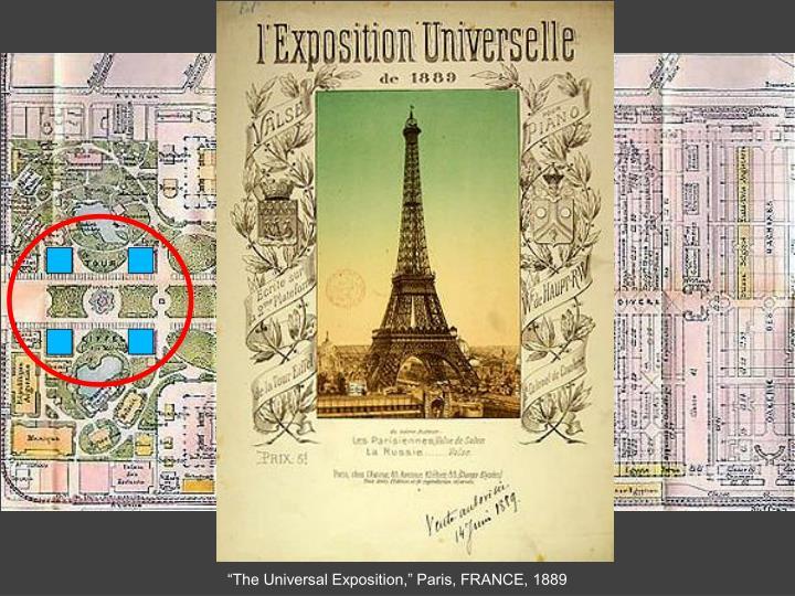 """The Universal Exposition,"" Paris, FRANCE, 1889"