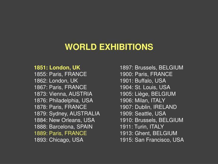 WORLD EXHIBITIONS