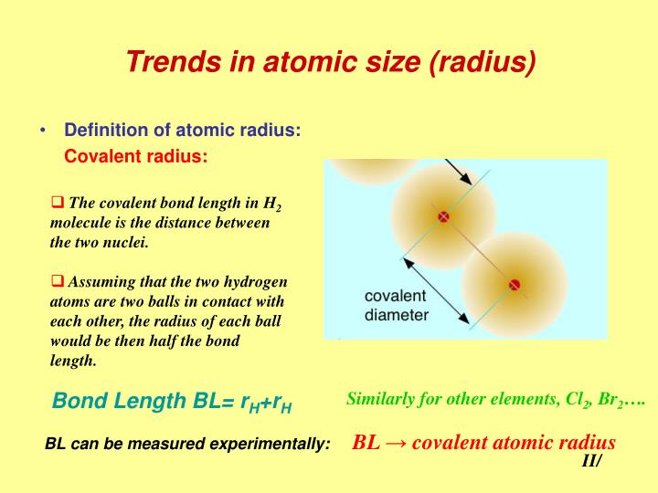 impazzito Vista accademico  PPT - Trends in atomic size (radius) PowerPoint Presentation, free ...