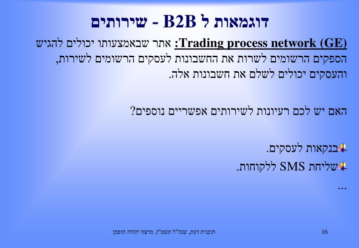 Trading process network (GE)