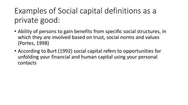Ppt Twofold Nature Of Social Capital Opportunities And