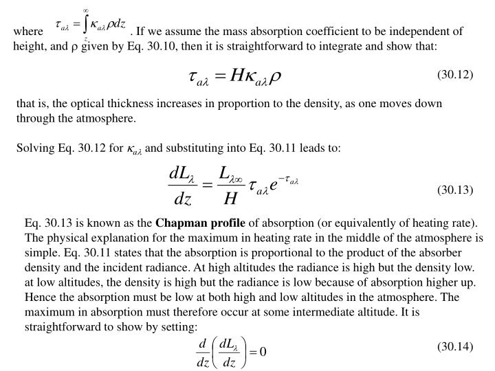 where                            . If we assume the mass absorption coefficient to be independent of