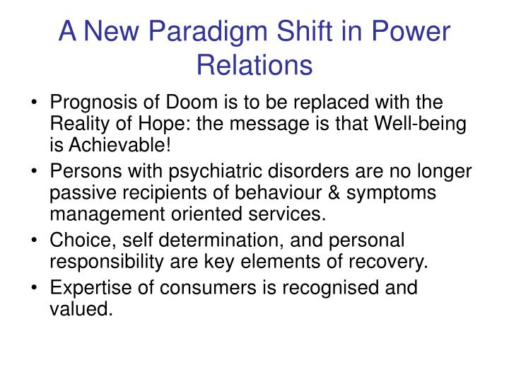 A New Paradigm Shift in Power Relations