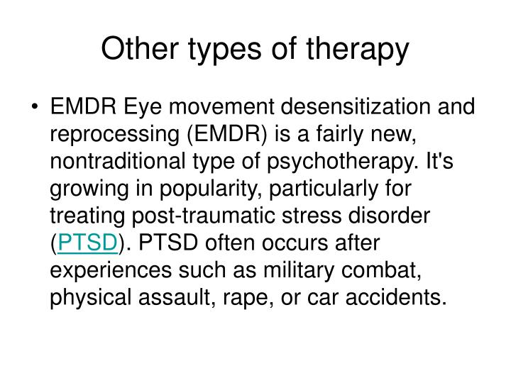 Other types of therapy