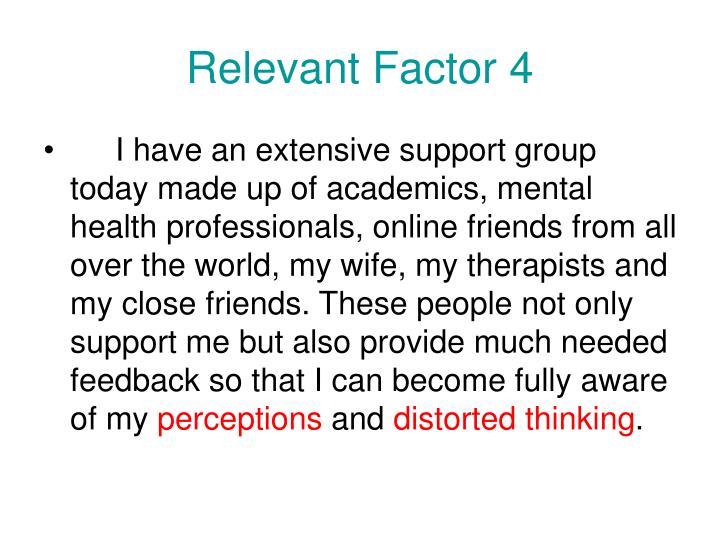 Relevant Factor 4