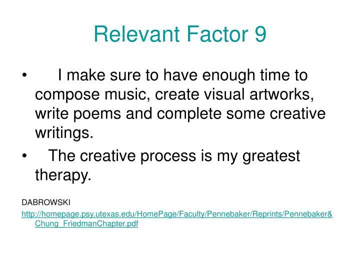 Relevant Factor 9