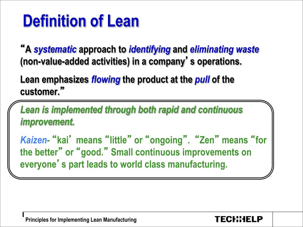 ppt - definition of lean powerpoint presentation - id:6079383
