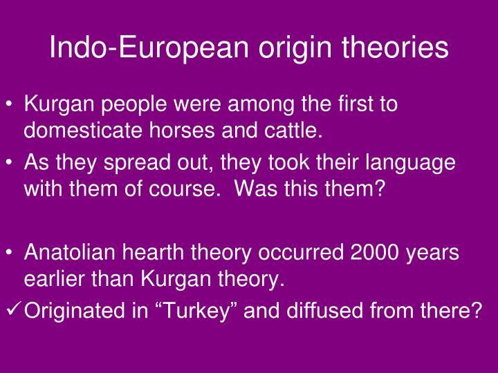 Indo-European origin theories