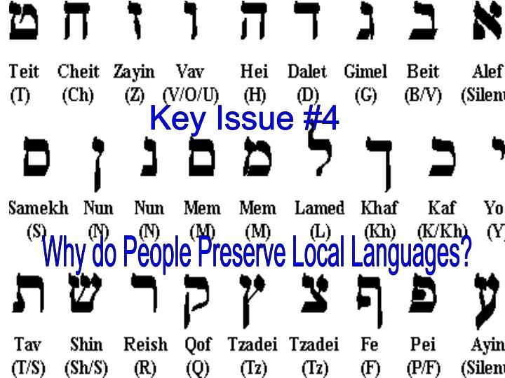 Key Issue #4