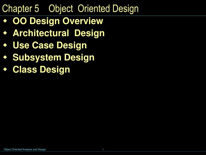 chapter 5 object oriented design n.