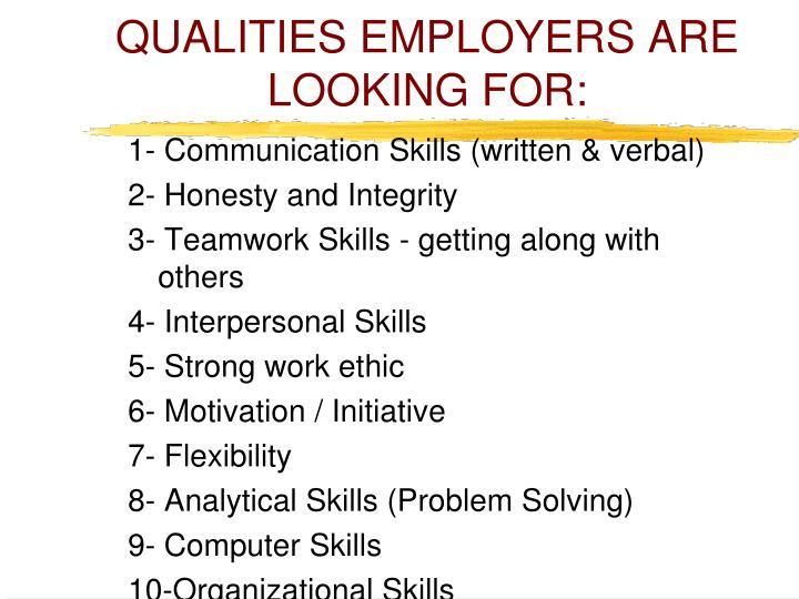 ppt - employment skills powerpoint presentation