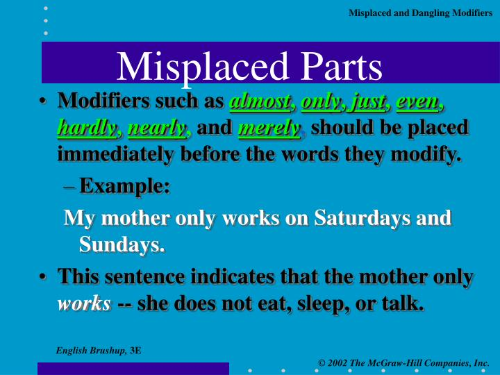 Misplaced parts1