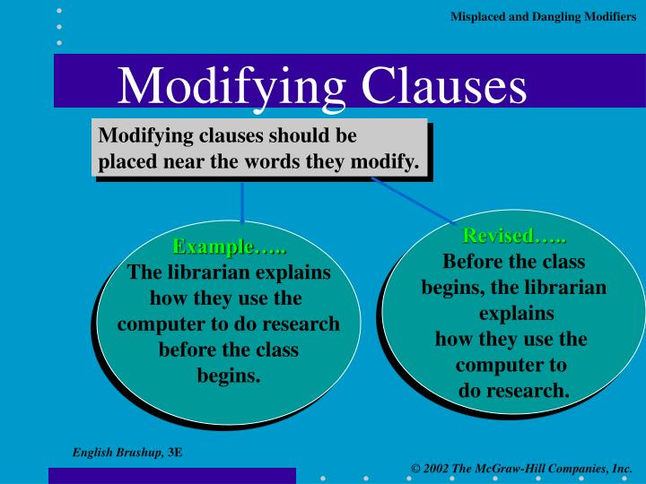 Modifying Clauses