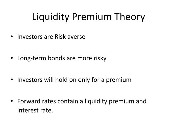 Liquidity Premium - Understand How Liquidity Premiums Work