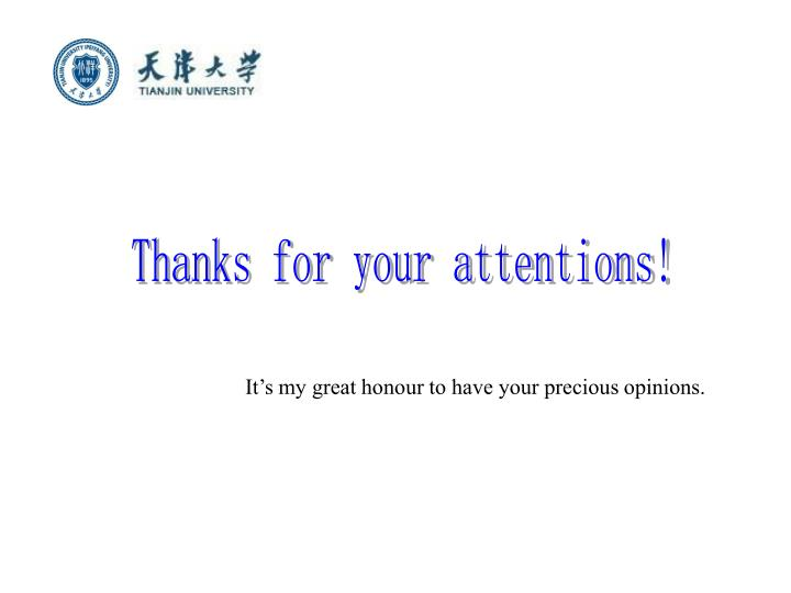 Thanks for your attentions!