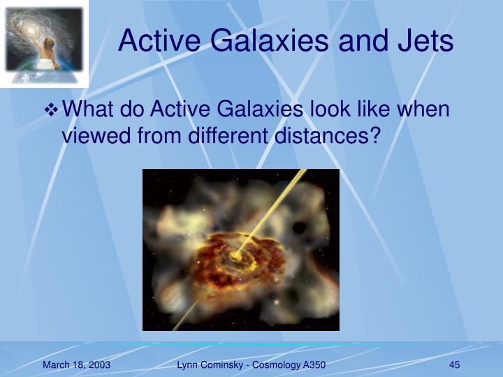 Active Galaxies and Jets