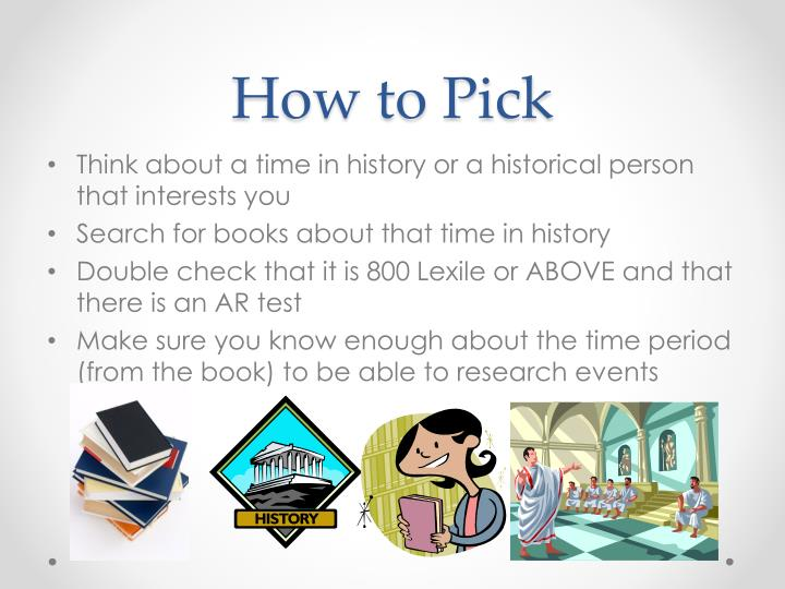 historical fiction book report projects Pick a book that looks interesting to you, but also adheres to the book report guidelines make sure it has the appropriate number of pages and is an approved genre (science fiction, mystery, romance, historical fiction, etc.