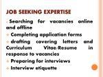 job seeking expertise