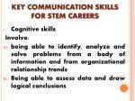 key communication skills for stem careers