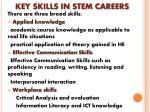 key skills in stem careers