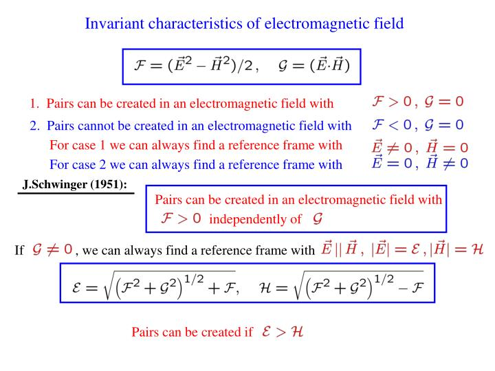 Invariant characteristics of electromagnetic field