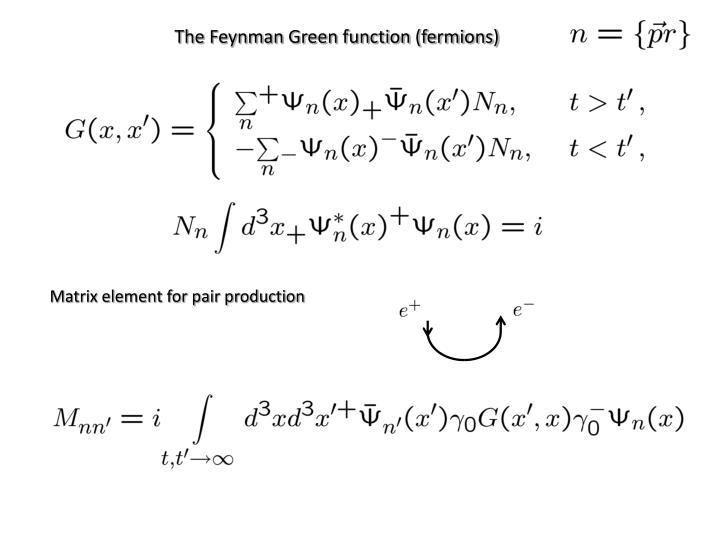 The Feynman Green function (fermions)