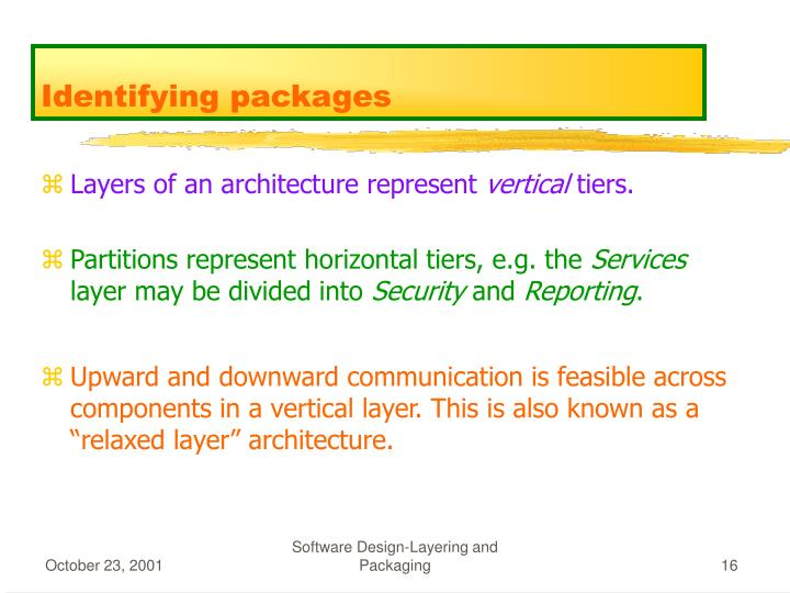 Identifying packages
