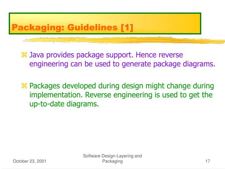 Packaging: Guidelines [1]