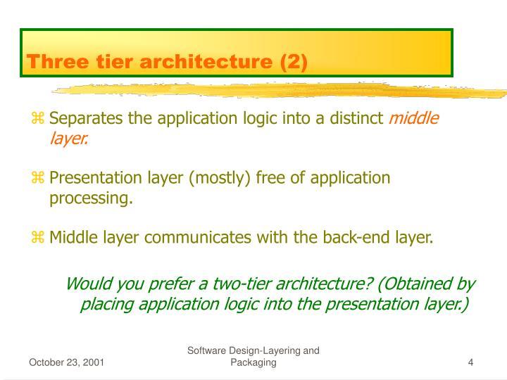 Three tier architecture (2)