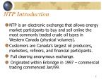 ntp introduction