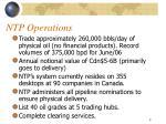 ntp operations