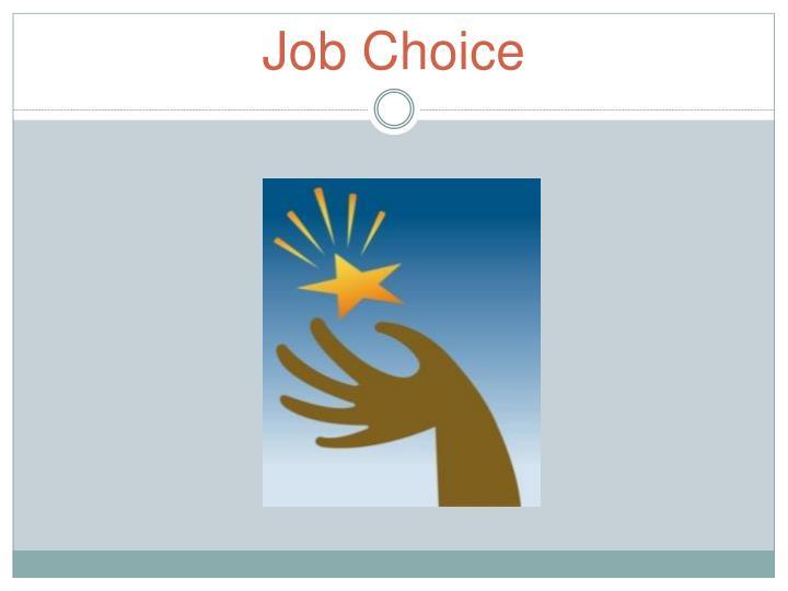 Job Choice
