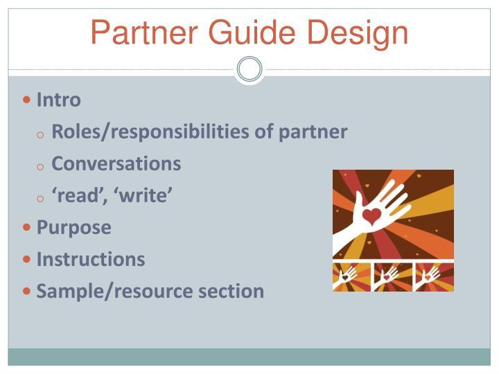 Partner Guide Design