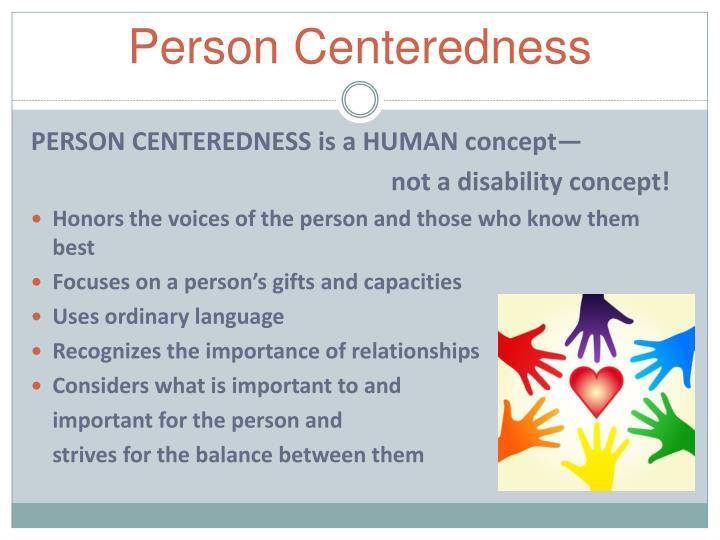 Person Centeredness
