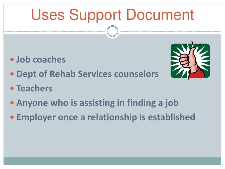 Uses Support Document