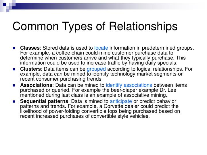 Common Types of Relationships