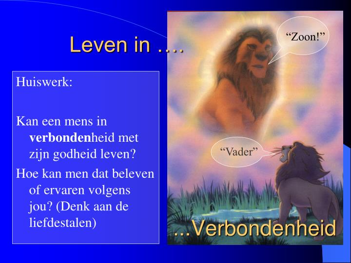 Leven in ….