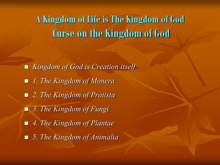 A Kingdom of Life is The Kingdom of God