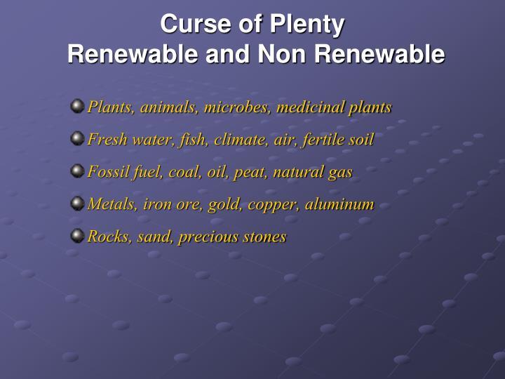 Curse of Plenty