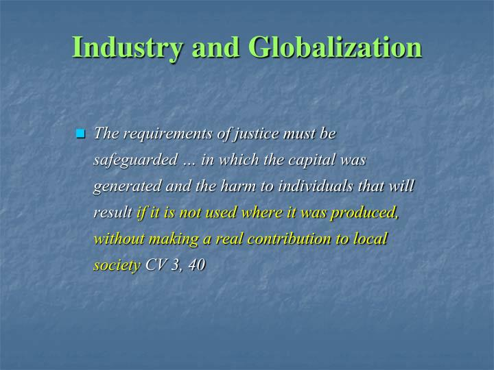 Industry and Globalization