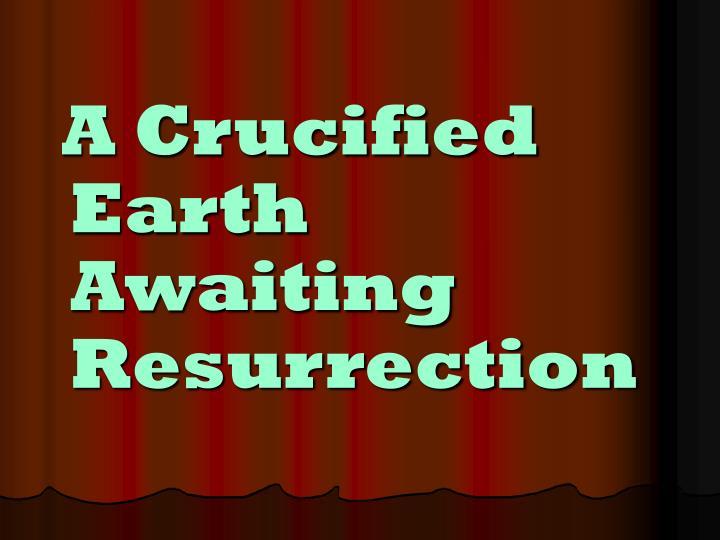 A Crucified Earth Awaiting Resurrection