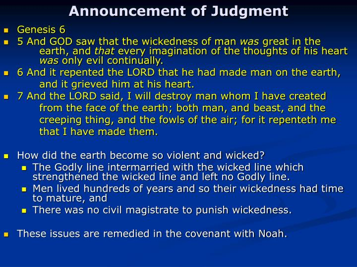 Announcement of Judgment