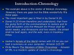 introduction chronology1