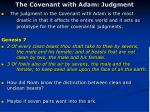 the covenant with adam judgment