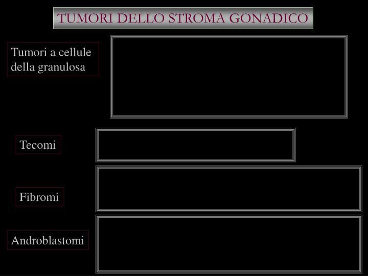 TUMORI DELLO STROMA GONADICO