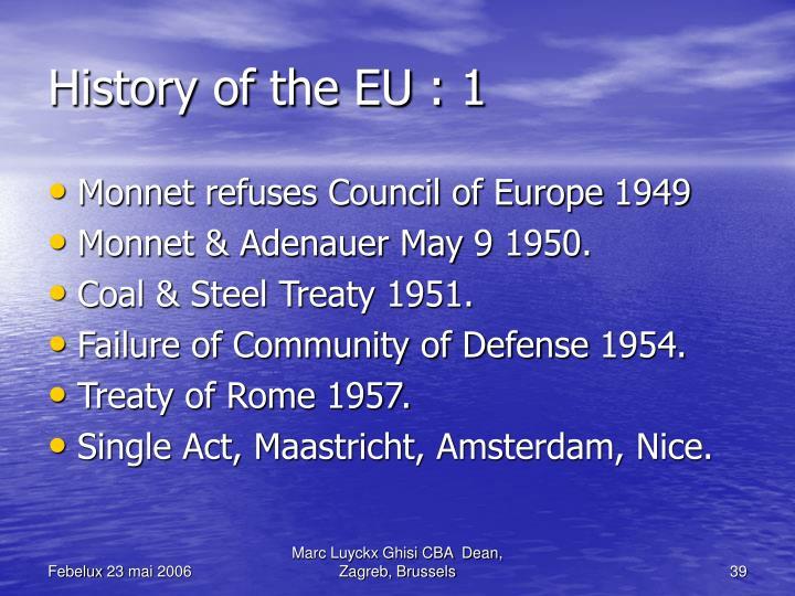 History of the EU : 1