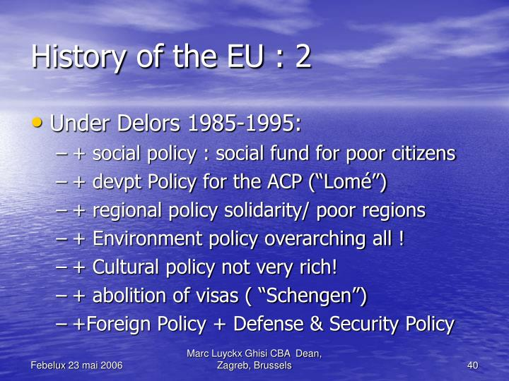 History of the EU : 2