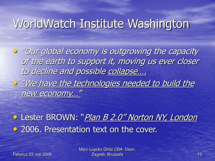 WorldWatch Institute Washington