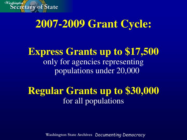 Express Grants up to $17,500
